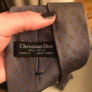 Christian Dior Men's Silk Vintage Tie
